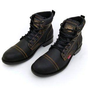Levi Strauss Men's Blue Black Jean Boots 9
